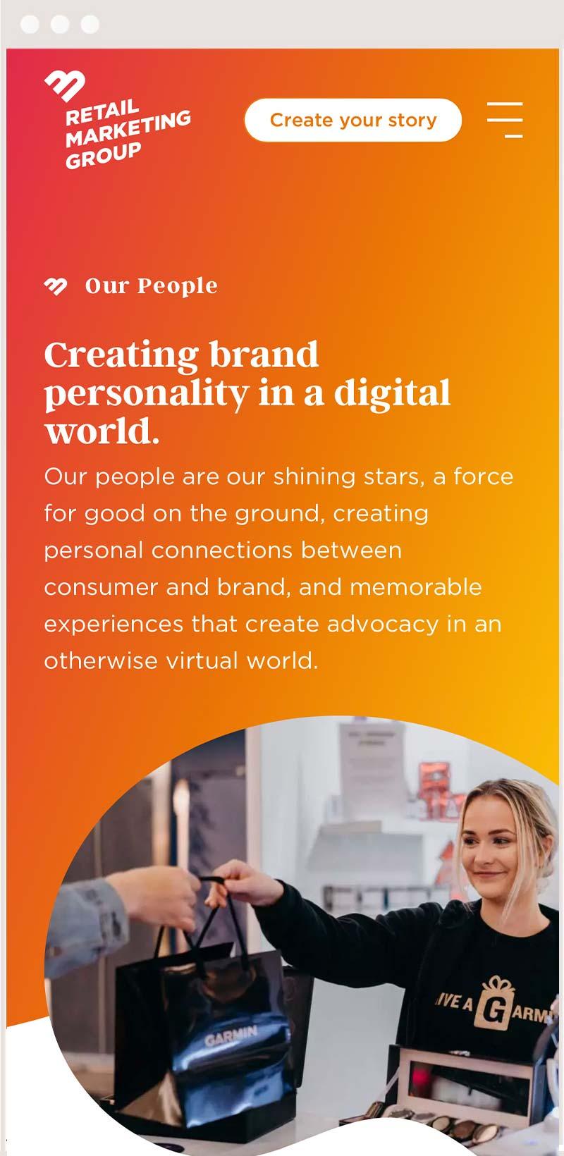 brand website design