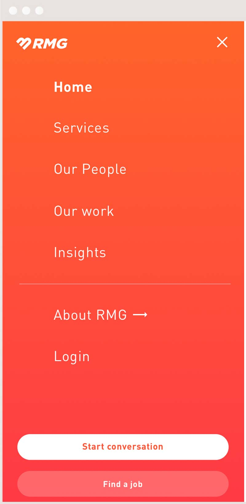Mobile wordpress website RMG