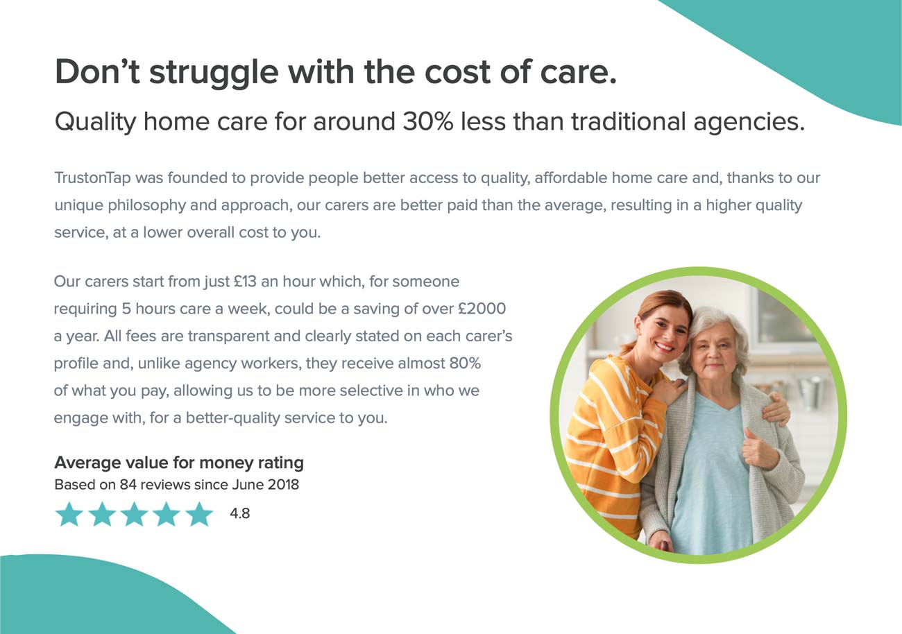 Brochure design trustontap homecare