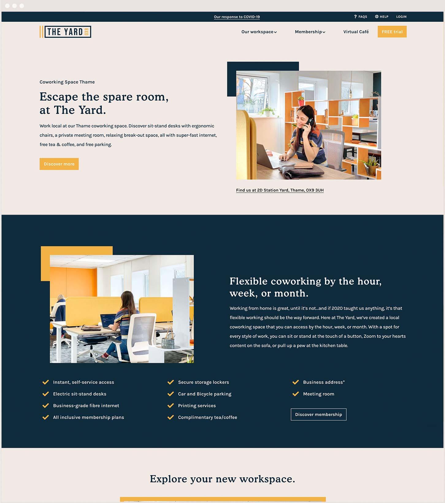 The yard website design